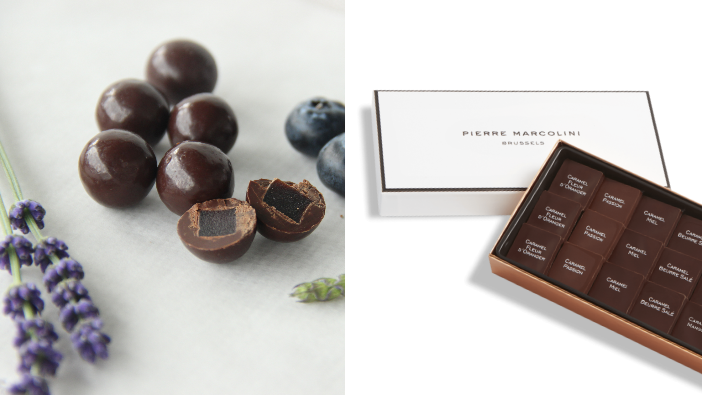 Bitesize luxury panned chocolate balls and Marcolini