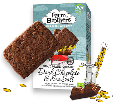 Farm Brothers dark chocolate and sea salt
