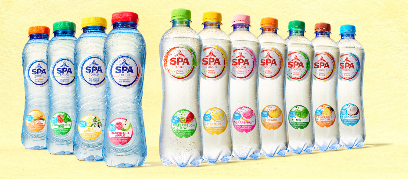 Spa flavoured water range