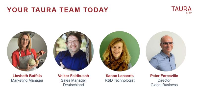 Taura Team virtual innovation presentation Volker Liesbeth Sanne Peter
